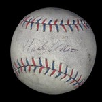 Baseball, signed by Babe Ruth and Hank Aaron