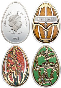 Cook Islands Egg coins