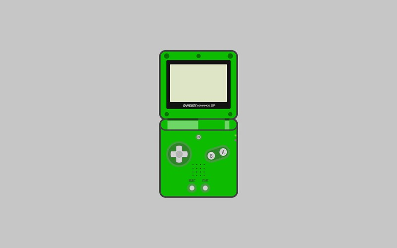 Nintendo Game Boy Advance SP wallpaper - green