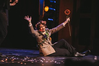 Cailean Morison as the Duke of Dunstable goes in search of his aesthetic side. Photo © David Monteith-Hodge Eusog Pleasance Edinburgh