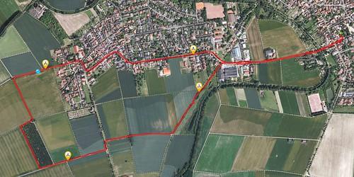 Runtastic-Route: Rund um Hahnheim