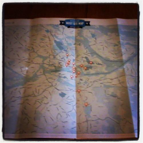 Y llegó el must see map de klm para el #dijucatrip Estocolmo