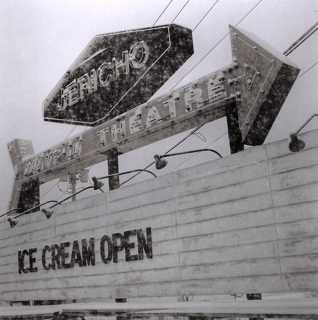 Jericho Drive-In: Ice Cream Open in winter, Glenmont, N.Y.