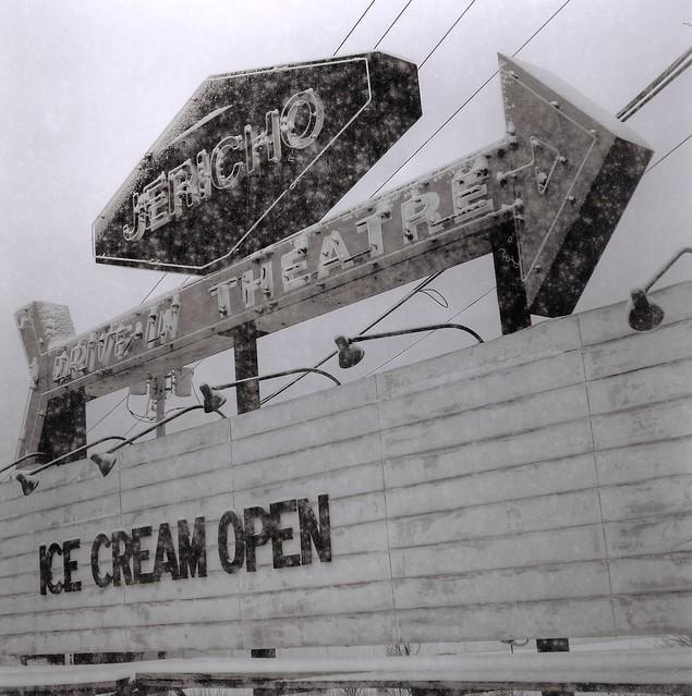Jericho Drive-In: Ice Cream Open in winter, Glenmont, N.Y.