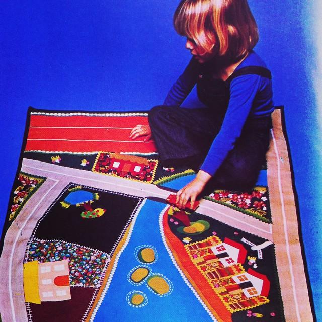 tapis de jeux vintage