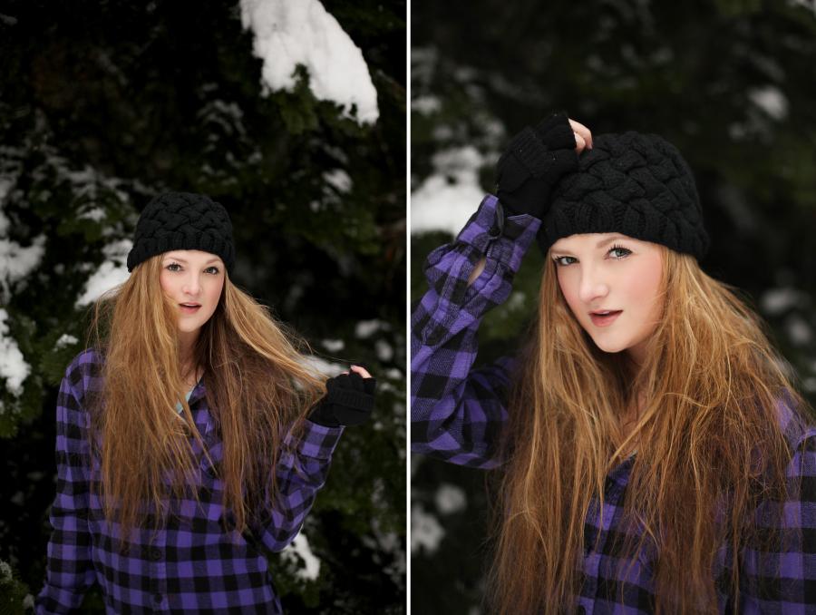 Monique in the Snow