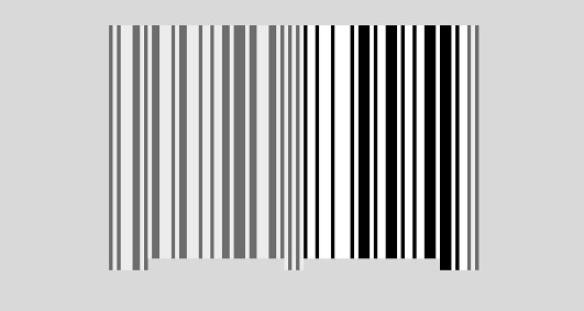 UPC bar code - the right section data bars fitted into the bar code framework