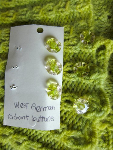 My Spring Green Georgina Cardigan DETAIL
