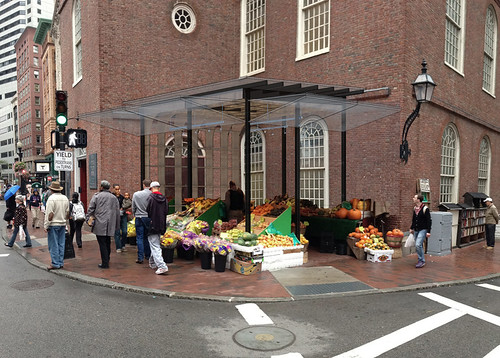 JW-Hart posted a photo: Market along side Old South Meeting House by CUBE design + research. National Landmark. www.CUBEdesignResearch.com, copyright.