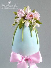 Tulip and Lilac Easter Egg Cake