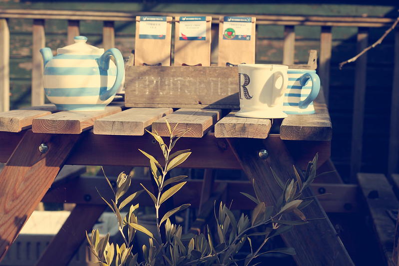 Teapot in the garden