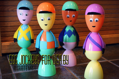 Egg Jockeys for Derby by Craft E Magee