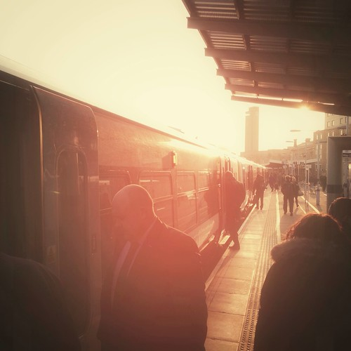 morning light sun station train sunrise square dawn platform commute 365 commuters iphone 365project iphone5 iphoneography 3652013 greenwichrailwaystationgnw apr2013
