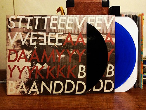 The Steve Adamyk Band - Third LP - Black Vinyl & Blue Vinyl (/200) by Tim PopKid