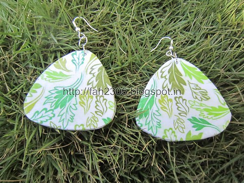 Handmade Jewelry - Card Paper Earrings  (46) by fah2305