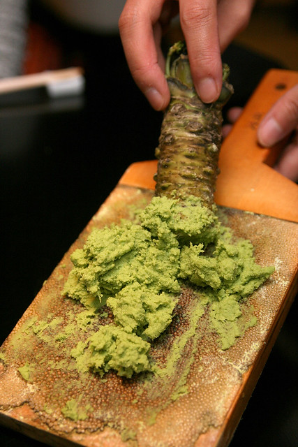 Real, fresh wasabi! Joy!