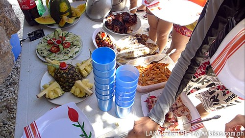Our lunch food at Talisayen Beach in El Nido, Palawan