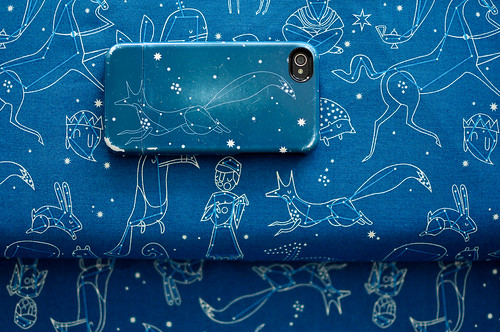 Constellations fabric & iphone case