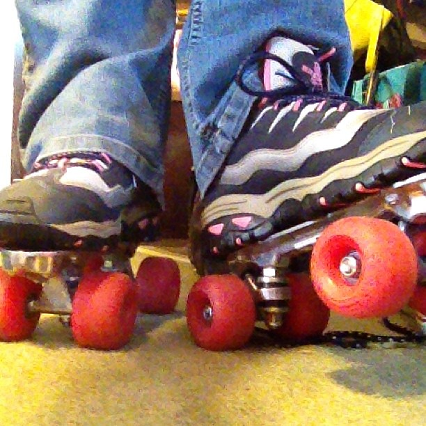 Found some roller skates at today's clothing swap!