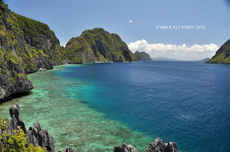 View from above Matinloc Shrine, El Nido, Palawan, Philippines