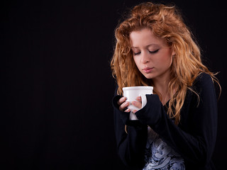 Jess and her cup of coffee #02