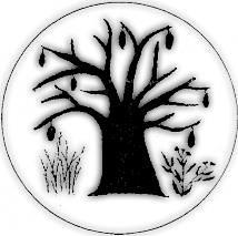 帕帕提阿植物園標誌,中間為猢猻樹