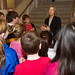 Rep. Wood greets students from Columbus Magnet School during their tour of the Capitol.
