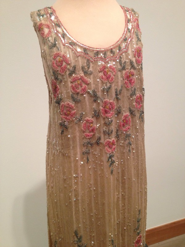 1920's evening dress, hand beaded