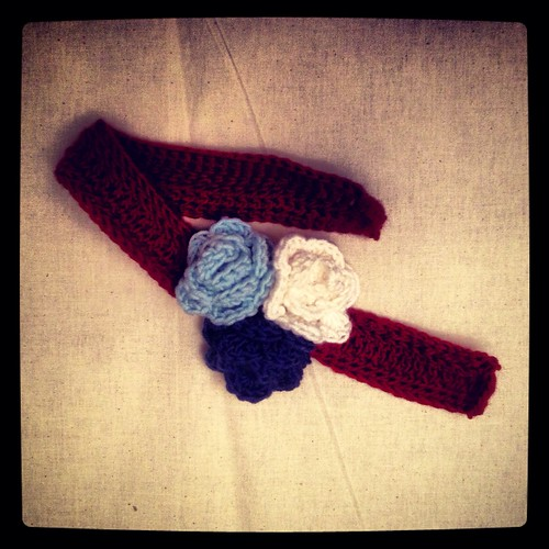 Crochet Roses Headband