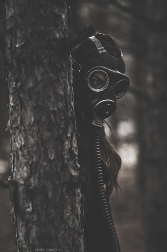 old ontario canada girl vintage fun outdoors scary model nikon shoot dof mask bokeh wwii 85mm naturallight creepy sudbury gasmask fullframe fx tones shallowdof 14d nikkor85mm14d d700 authenticgasmask