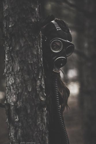 old ontario canada girl vintage fun outdoors scary model nikon shoot dof mask bokeh wwii 85mm naturallight creepy sudbury gasmask fullframe fx tones shallowdof 14d nikkor85mm14d d700 authenticgasmask