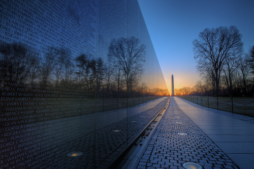 morning alex wall sunrise mall dawn washington nikon memorial war day district magic columbia vietnam clear national hour hdr veterans d300s regionwide erkiletian