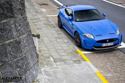 French Racing Blue Jaguar XKR-S 2012