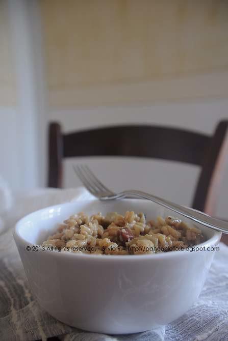 risotto con gambi di carciofo