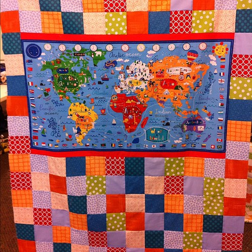 One more quilt top for the road! #stashbash was a big success. Thanks @frecklemama !!!!! #thestashbash