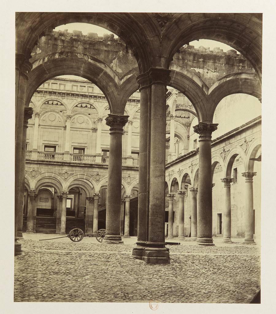 Alcázar de Toledo hacia 1858. Fotografía de Louis Léon Masson © Bibliothèque Nationale de France