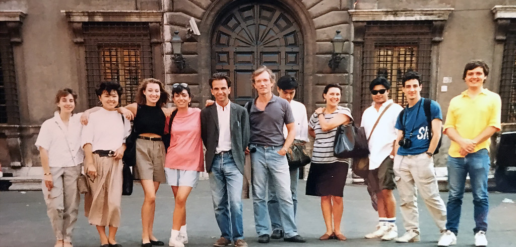 1988 summer students with director and teacher.   photo / Susan Portman Price (B.S. URS '90, M.R.P. '91)
