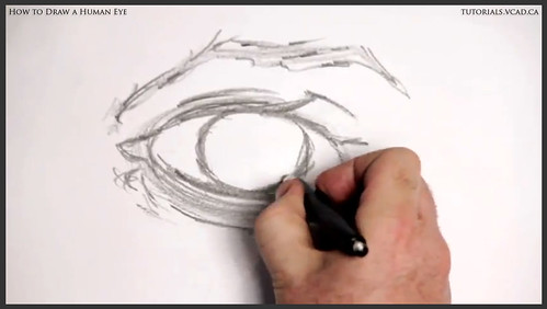 learn how to draw a human eye 007