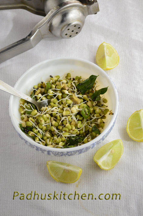 green gram sprout salad