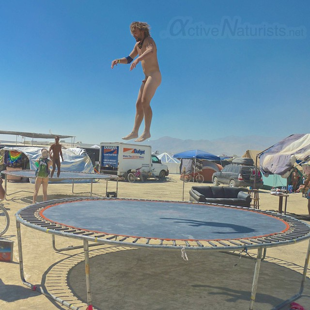 naturist trampoline 0015 Burning Man 2012, Black Rock City, NV, USA