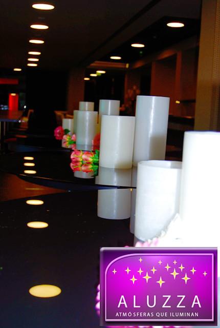pantalla de cera para decoración de salones