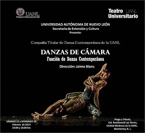 Danzas de Cámara de la Cía. Titular de Danza Contemporánea de la UANL