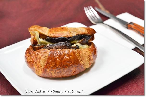 Portobello Mushroom & Cheese Croissant