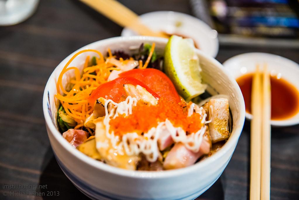 Sushi Samurai - warm aburi seafood salad