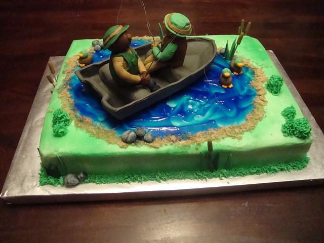 fishing retirement cake