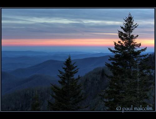 blue winter sunset sky usa mountain mountains green clouds northcarolina overlook blueridgemountains hdr highdynamicrange blueridgeparkway photomatix canon70200mmf4l 5xp paulmalcolm