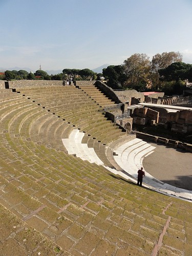 Large Roman Theater in Pompeii