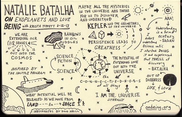 Sketchnotes on Exoplanets and Love with Natalie Batalha