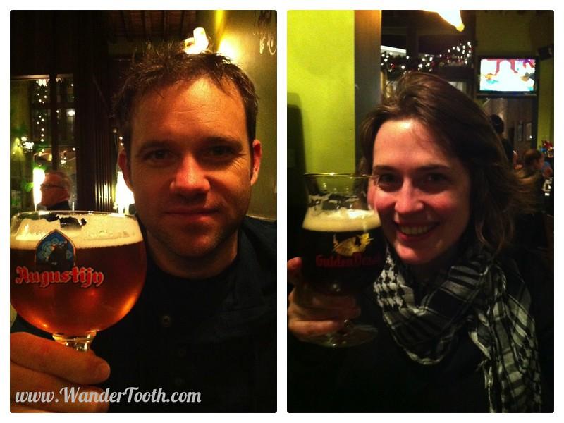 Sampling Belgian Beer in Ghent