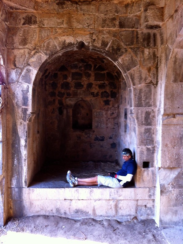 Relaxing at Arnala Fort